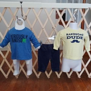 🚨6m Carter's baby boy long sleeve outfits🚨